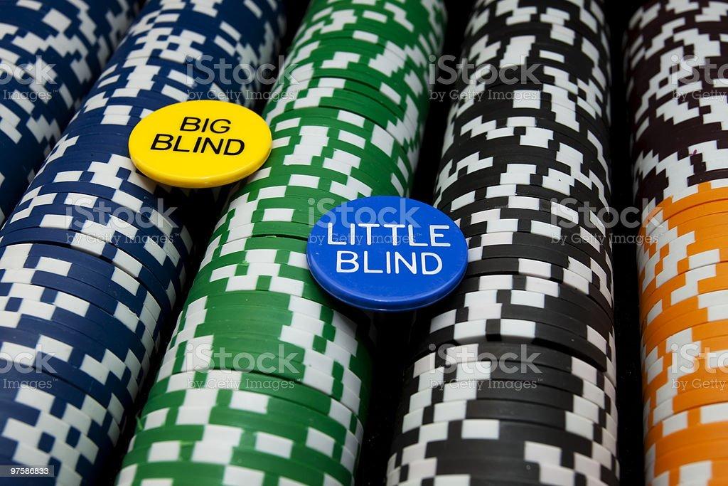Petits ou grands, avec des boutons invisibles sur rangées de Chips XL photo libre de droits