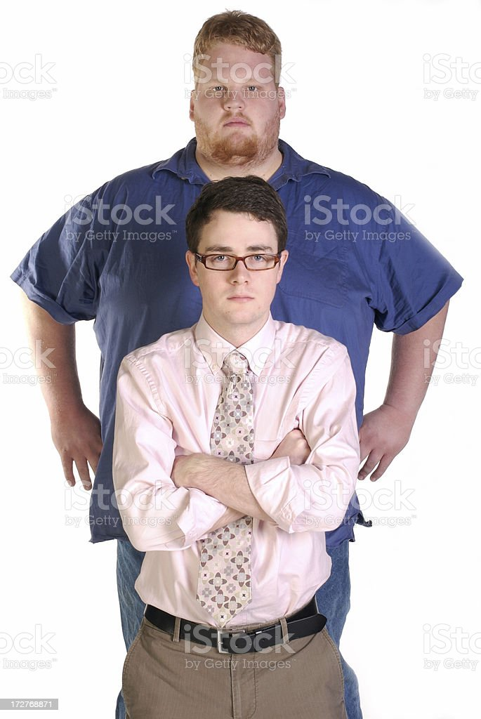 Big And Little Man royalty-free stock photo