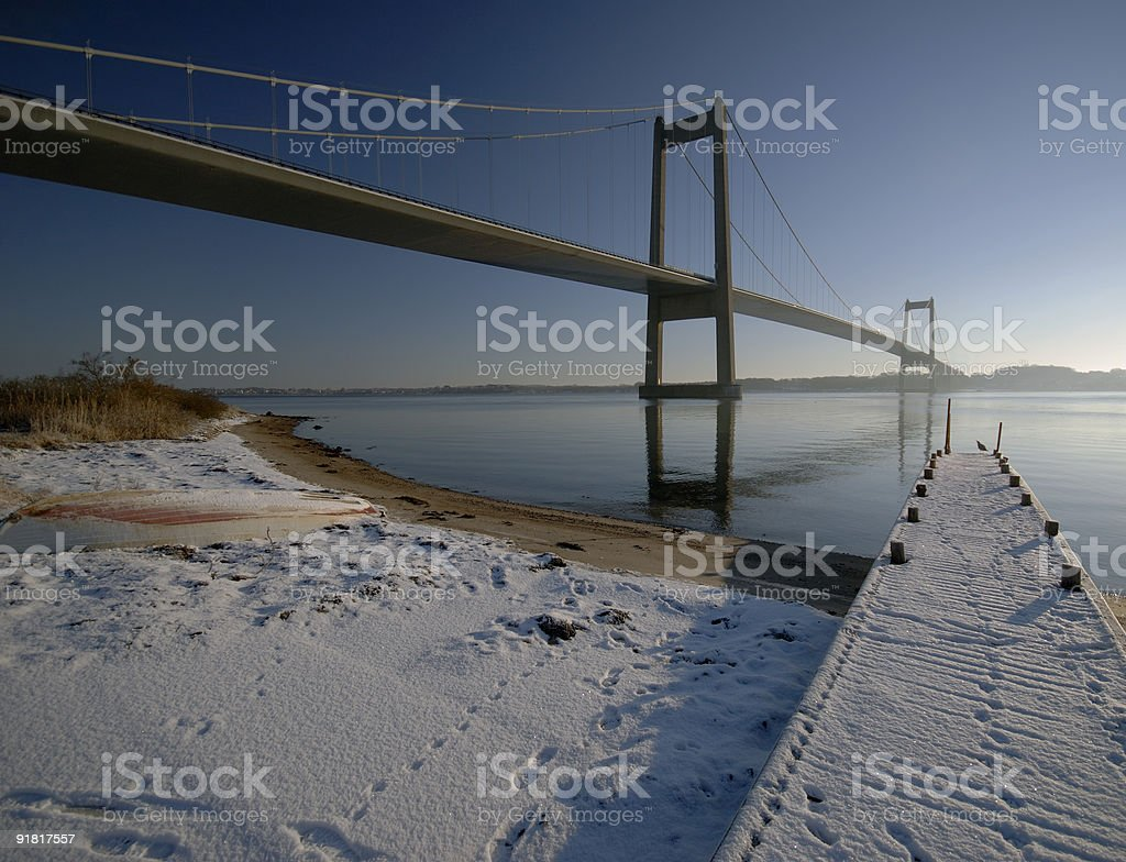 Big and small bridge royalty-free stock photo