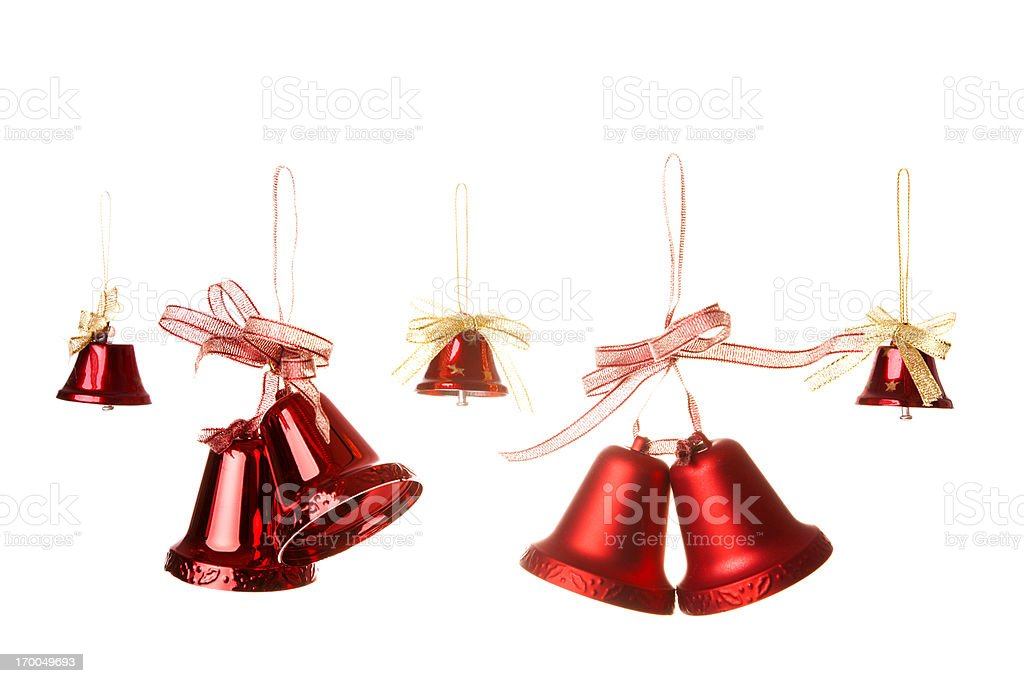 small red christmas bells