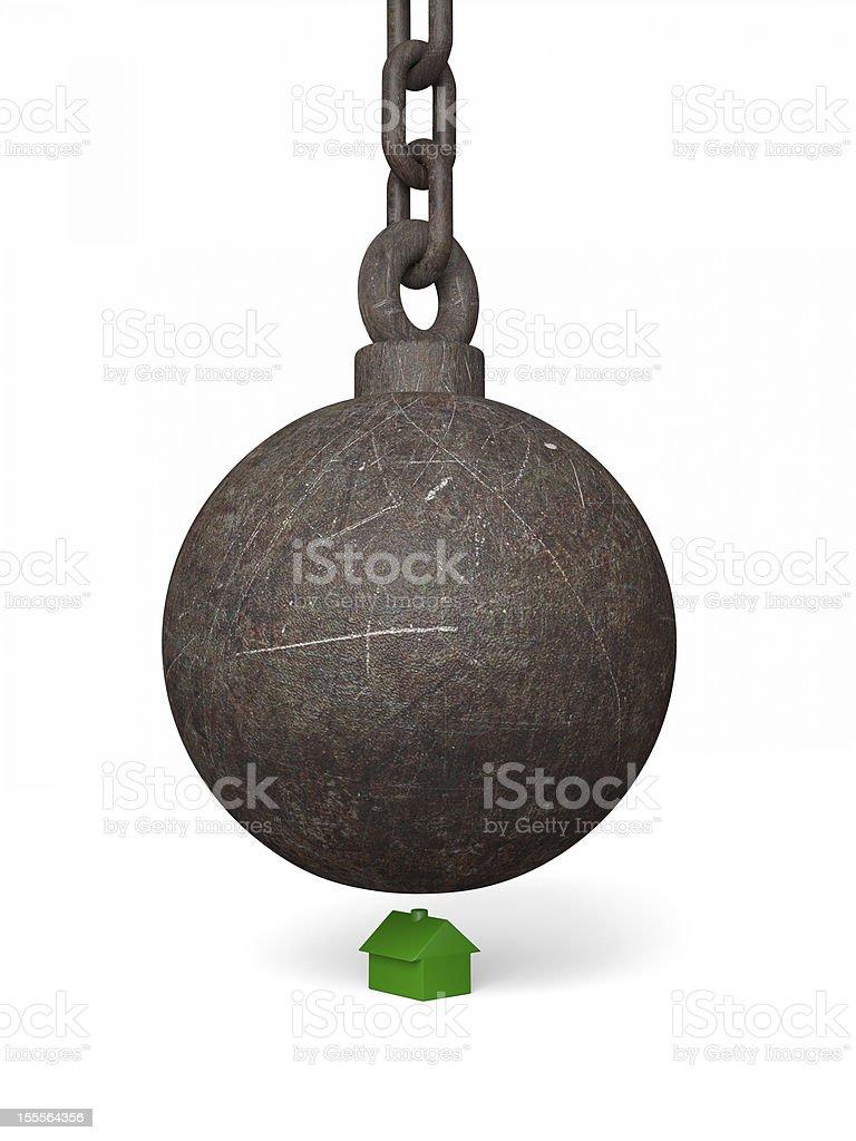 Big Bad Wrecking Ball royalty-free stock photo