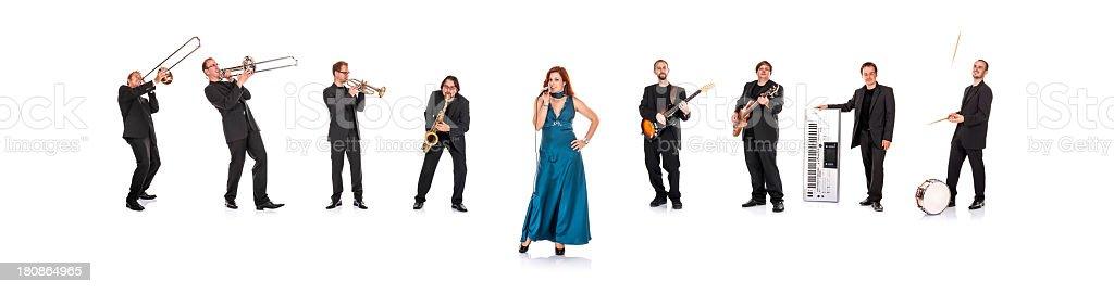 Big Band Portrait (XXXL resolution!) royalty-free stock photo