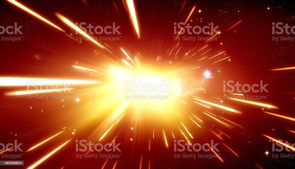 Big bang theory stock photo