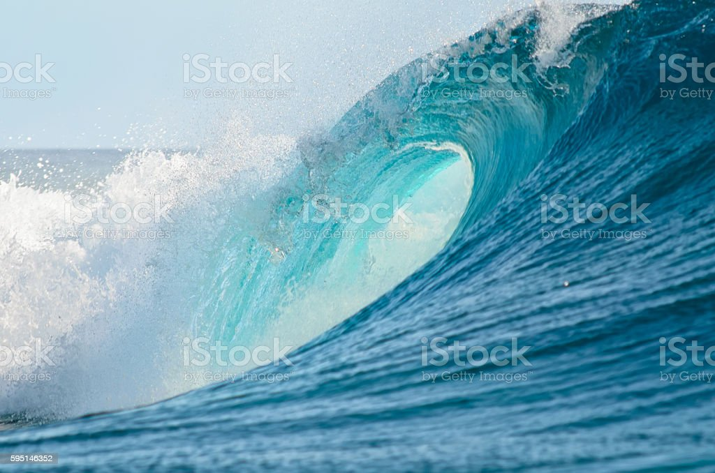 Big barrel wave stock photo