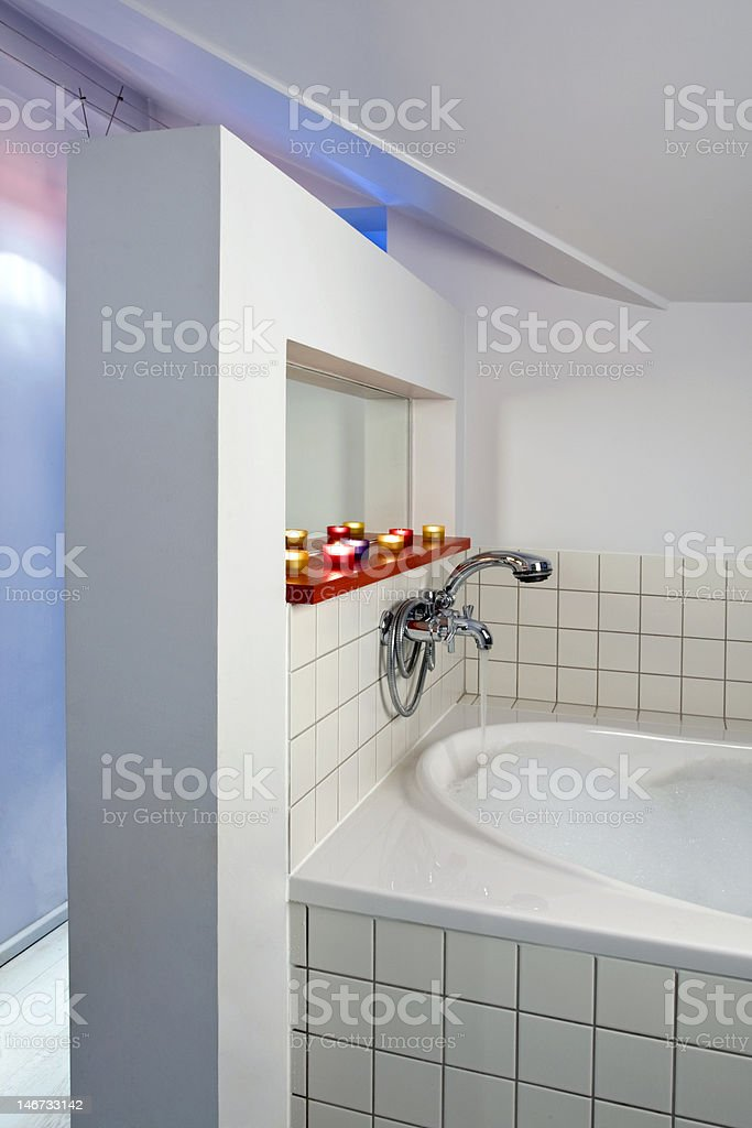 big bathroom in the flat royalty-free stock photo