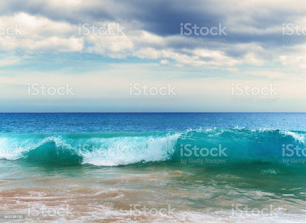 Big Beach Waves stock photo