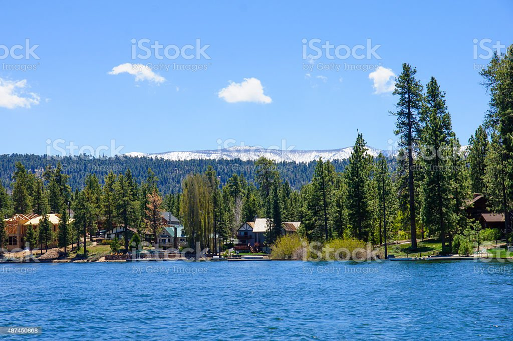 Big Bear Lake Landscape stock photo
