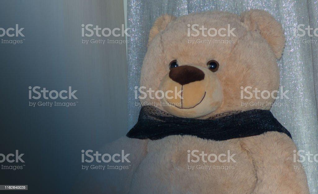 A big bear of peluche sitting