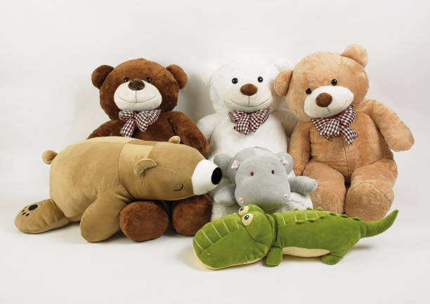 Big bears and friends isolated stock photo