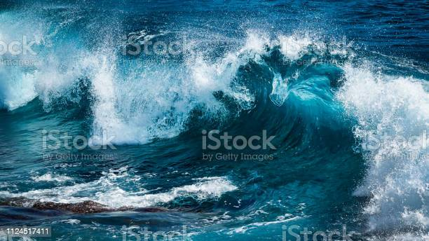 Photo of Big beautiful wave in turquoise water