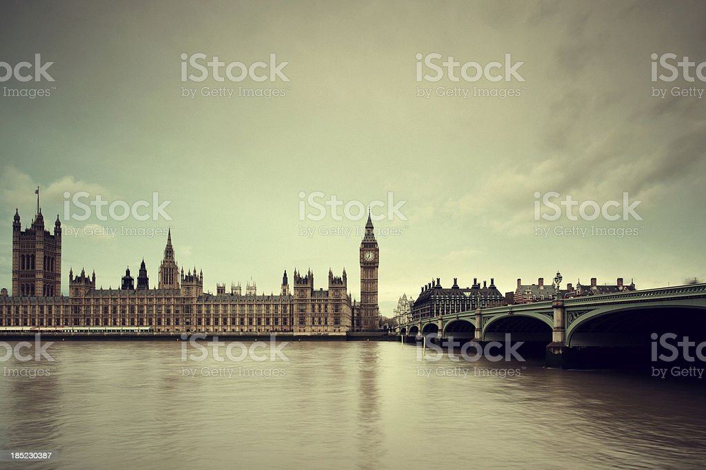Big Ben & Parliament in London royalty-free stock photo