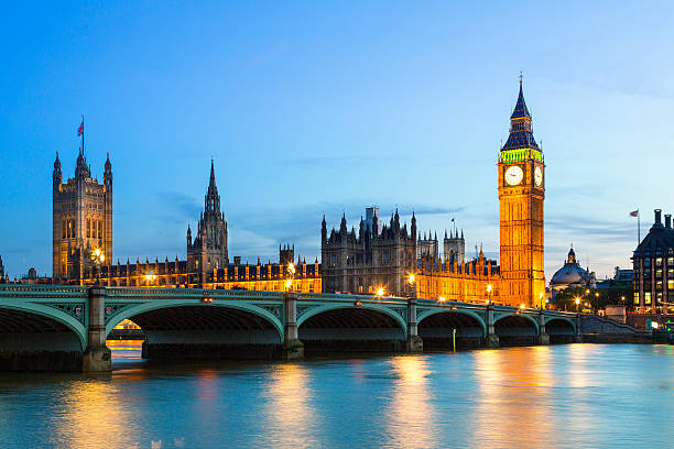 Big Ben, britische Parlament bei Dämmerung – Foto