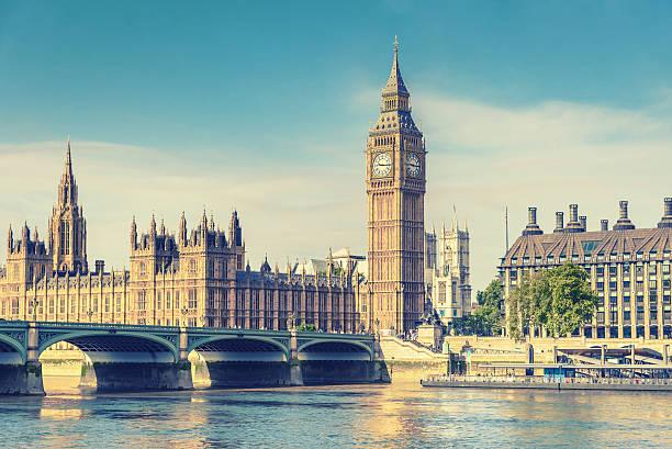 Big Ben und Parlament, London, Großbritannien, vintage-Effekt – Foto