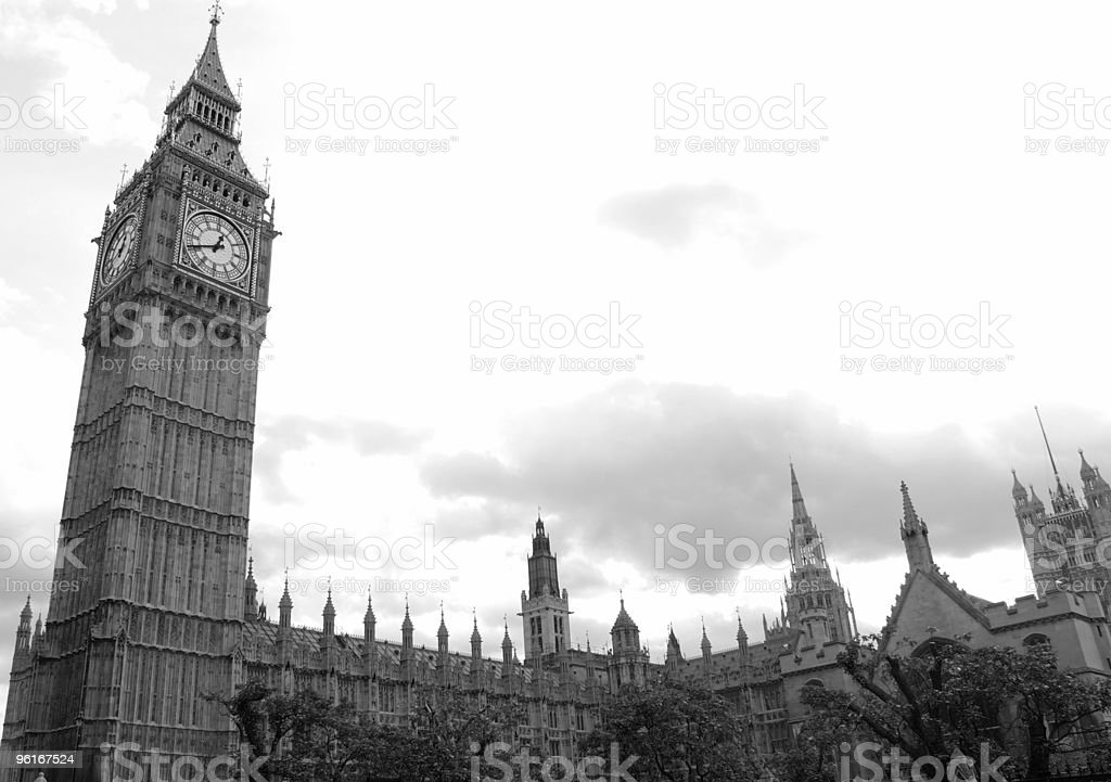 Big Ben and house of parliament royalty-free stock photo