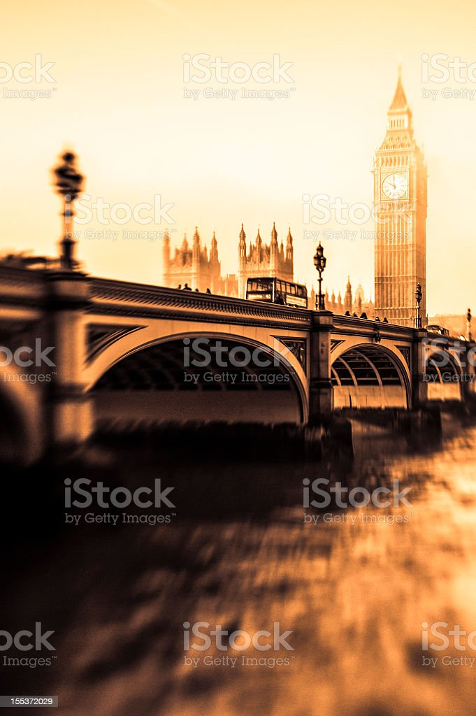 Big Ben And Houses Of Parliament In The Fog royalty-free stock photo