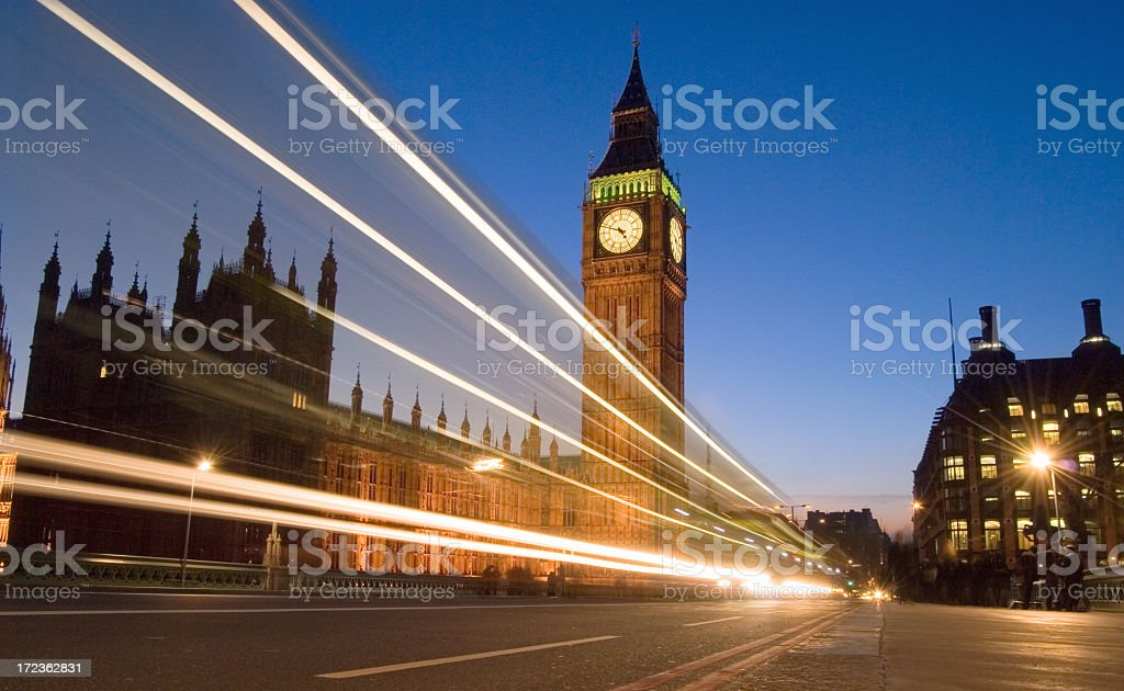 Big Ben and Houses of Parliament London stock photo