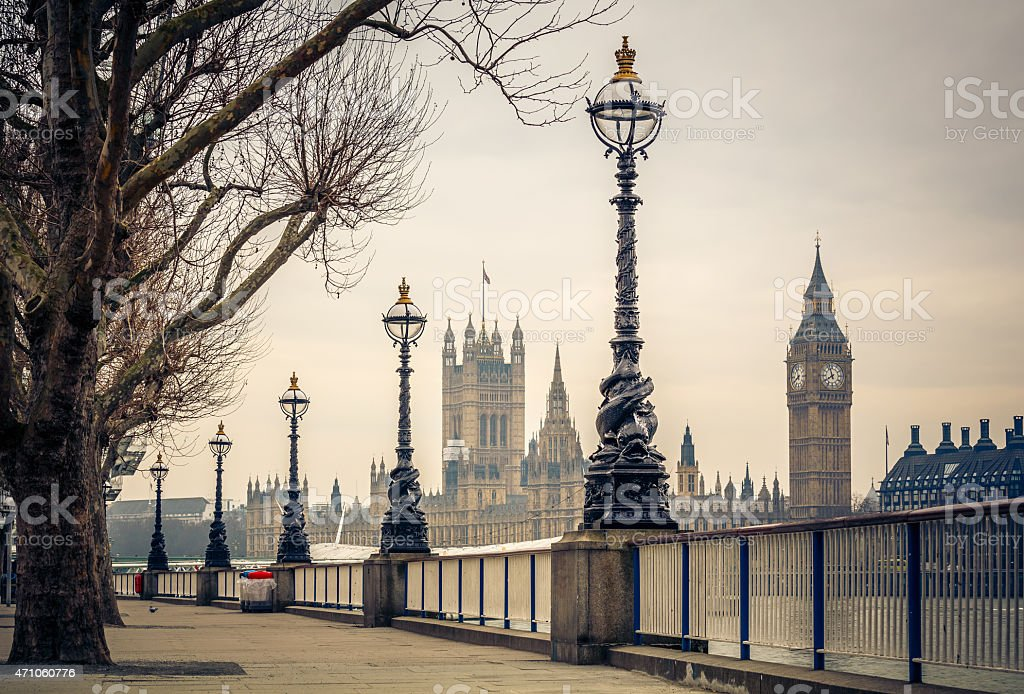 Big Ben and Houses of parliament, London stock photo