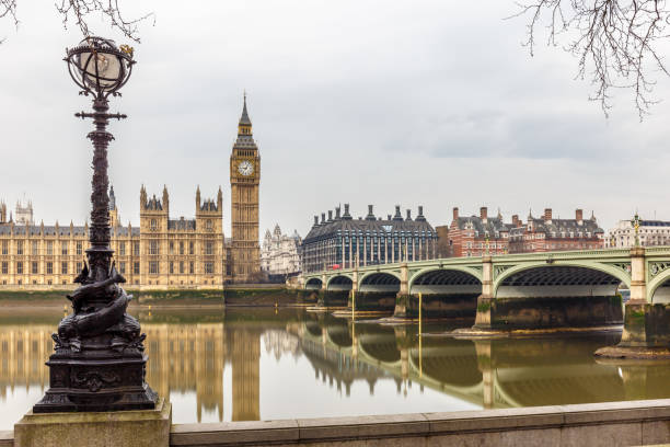 Big ben and Houses of parliament on long exposure, London stock photo