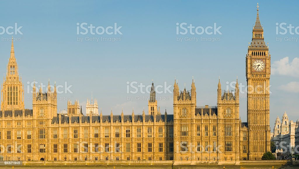 Big Ben and Palace of Westminster stock photo