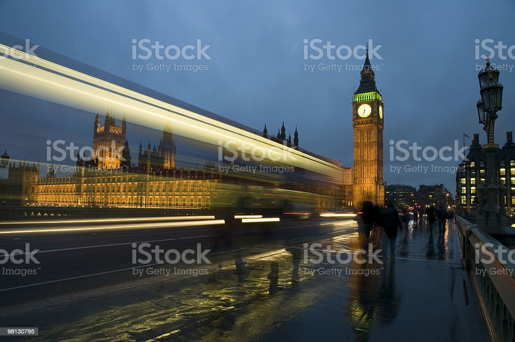 Big Ben and Parliament at dusk royalty-free stock photo