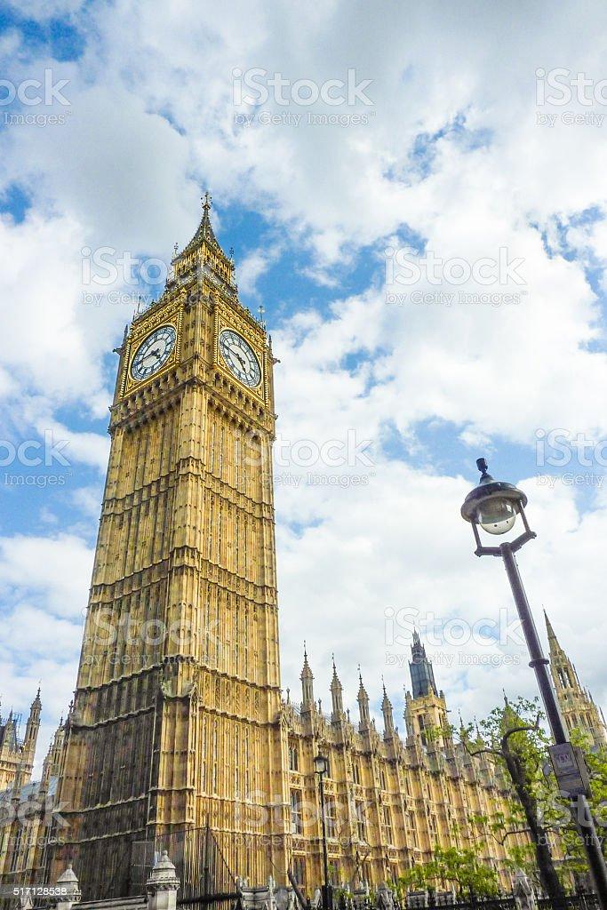 Big Ben and Parliament stock photo