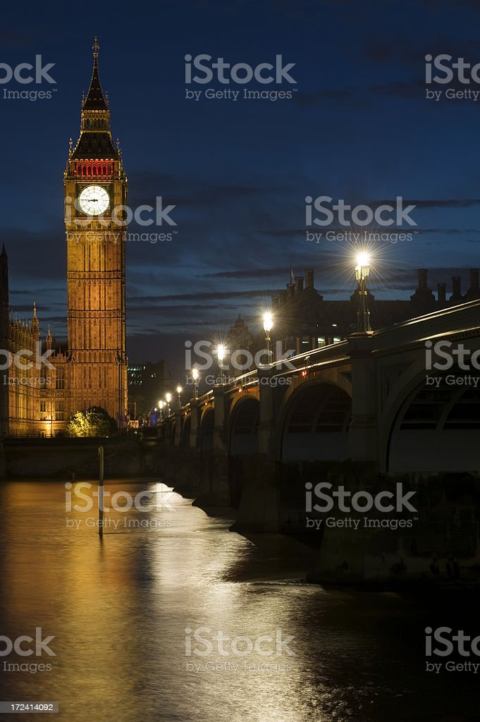 Big Ben and plane royalty-free stock photo