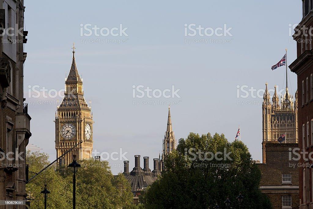 Big Ben and Portcullis House royalty-free stock photo