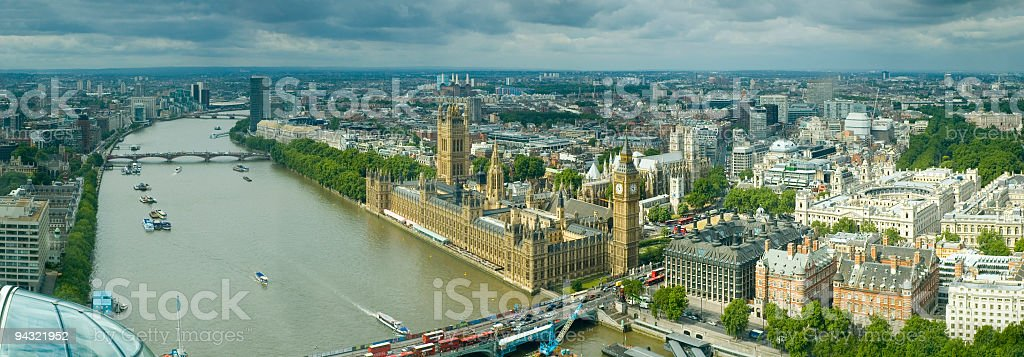 Big Ben and River Thames, London royalty-free stock photo