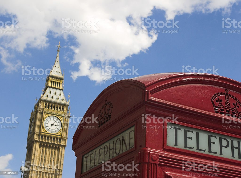 Big ben and telephone royalty-free stock photo