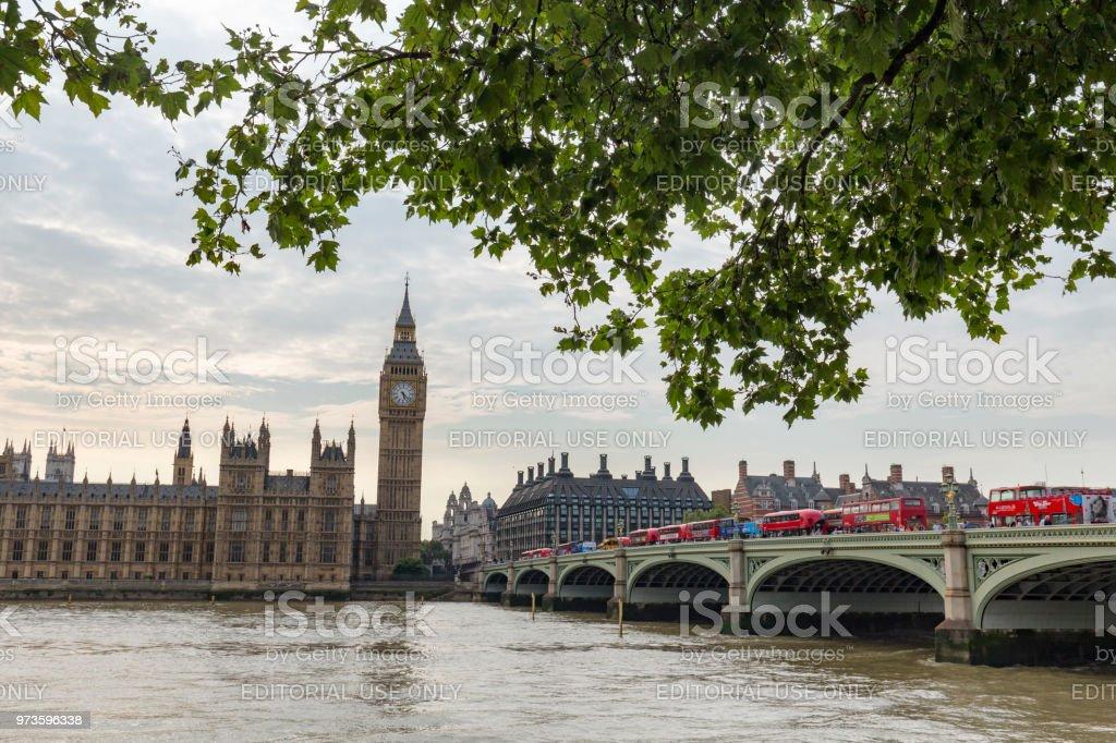Big Ben and Thames stock photo