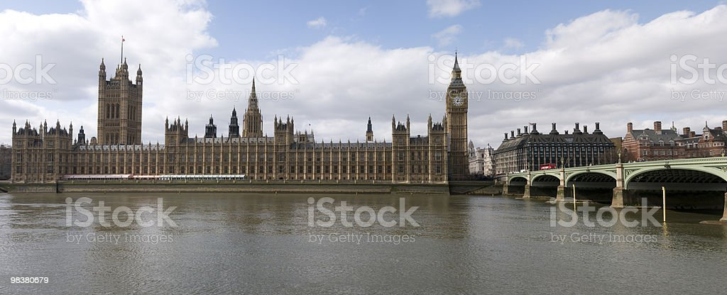 Big Ben and the Hall of Parliament royalty-free stock photo
