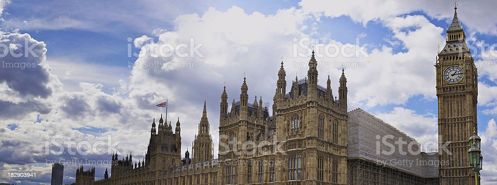 Big Ben and the Houses of Parliament royalty-free stock photo