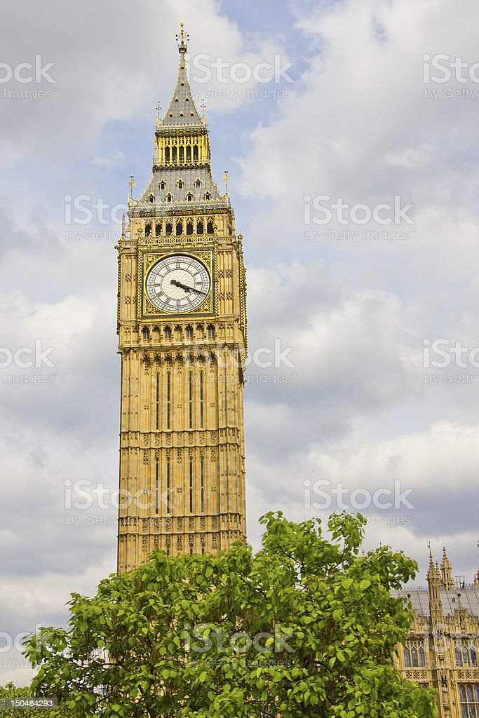Big Ben and the Parliament royalty-free stock photo