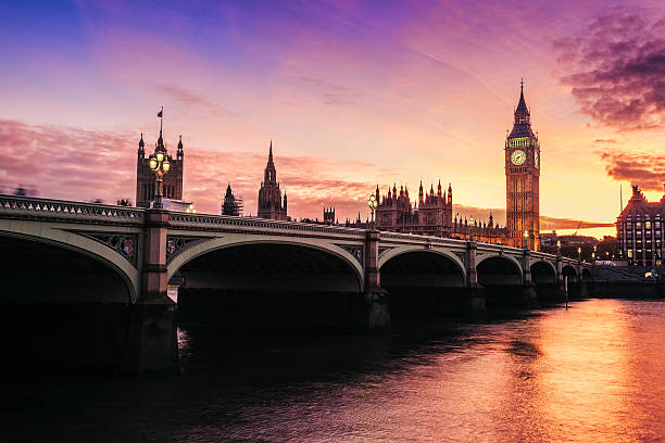 big ben and westminster bridge, london england uk - london england stock photos and pictures