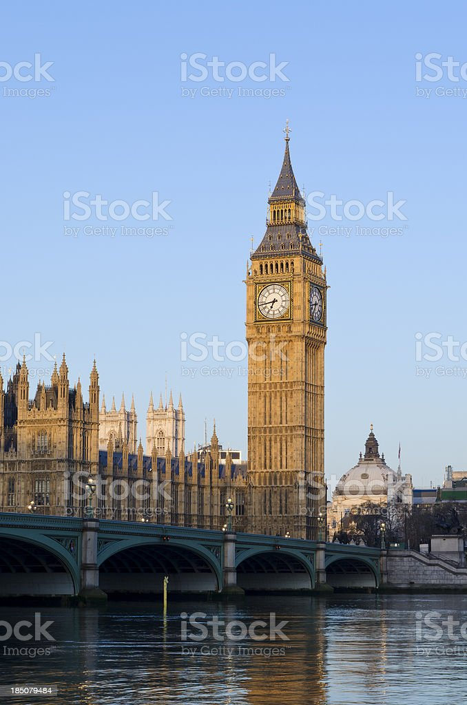 Big Ben and Westminster, London royalty-free stock photo