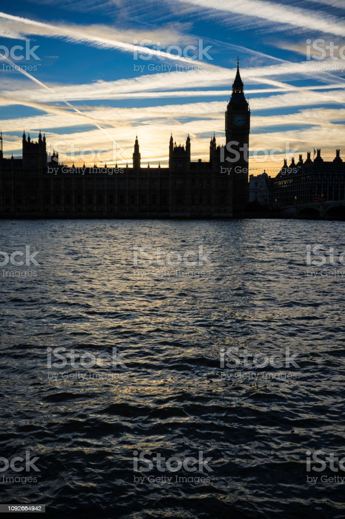 Big Ben And Westminster Sunset stock photo