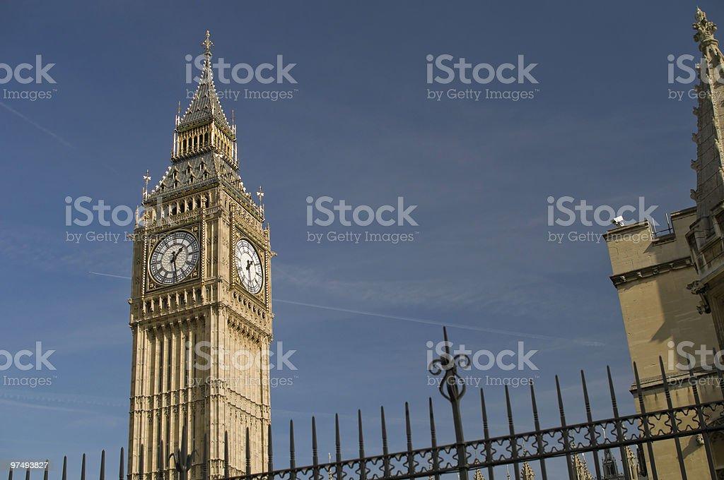 Big Ben askew perspective royalty-free stock photo