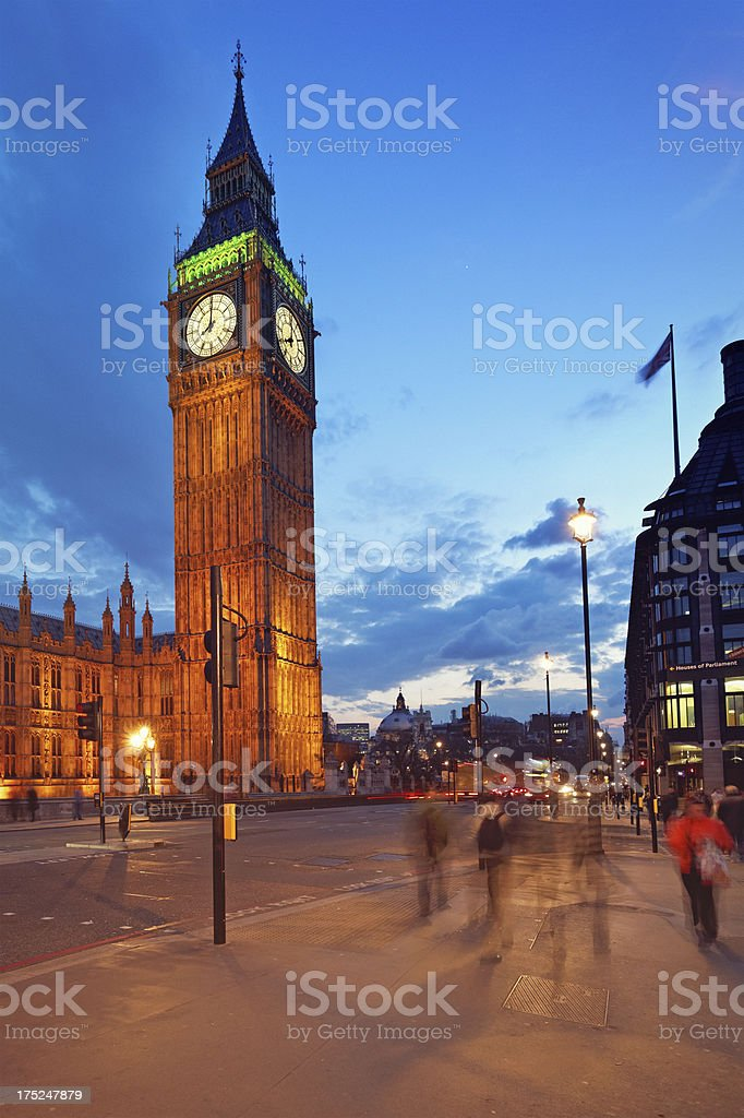 Big Ben at dusk royalty-free stock photo