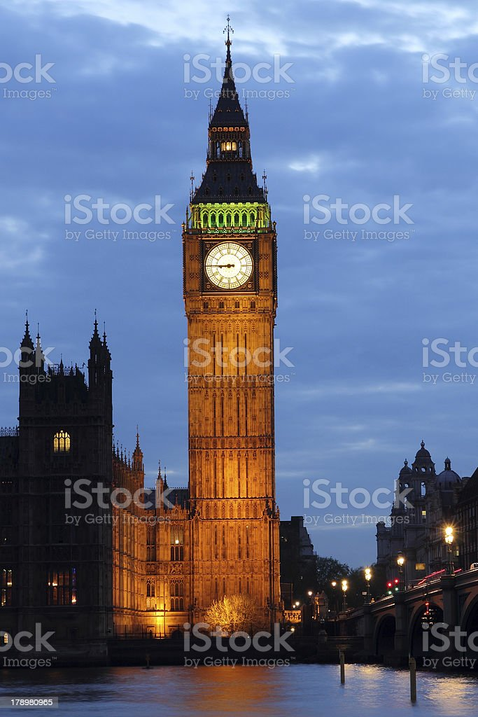 Big Ben at night royalty-free stock photo