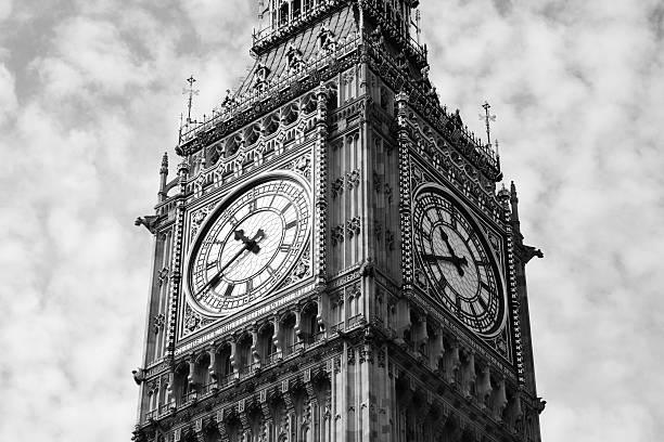 Big Ben Black & White stock photo