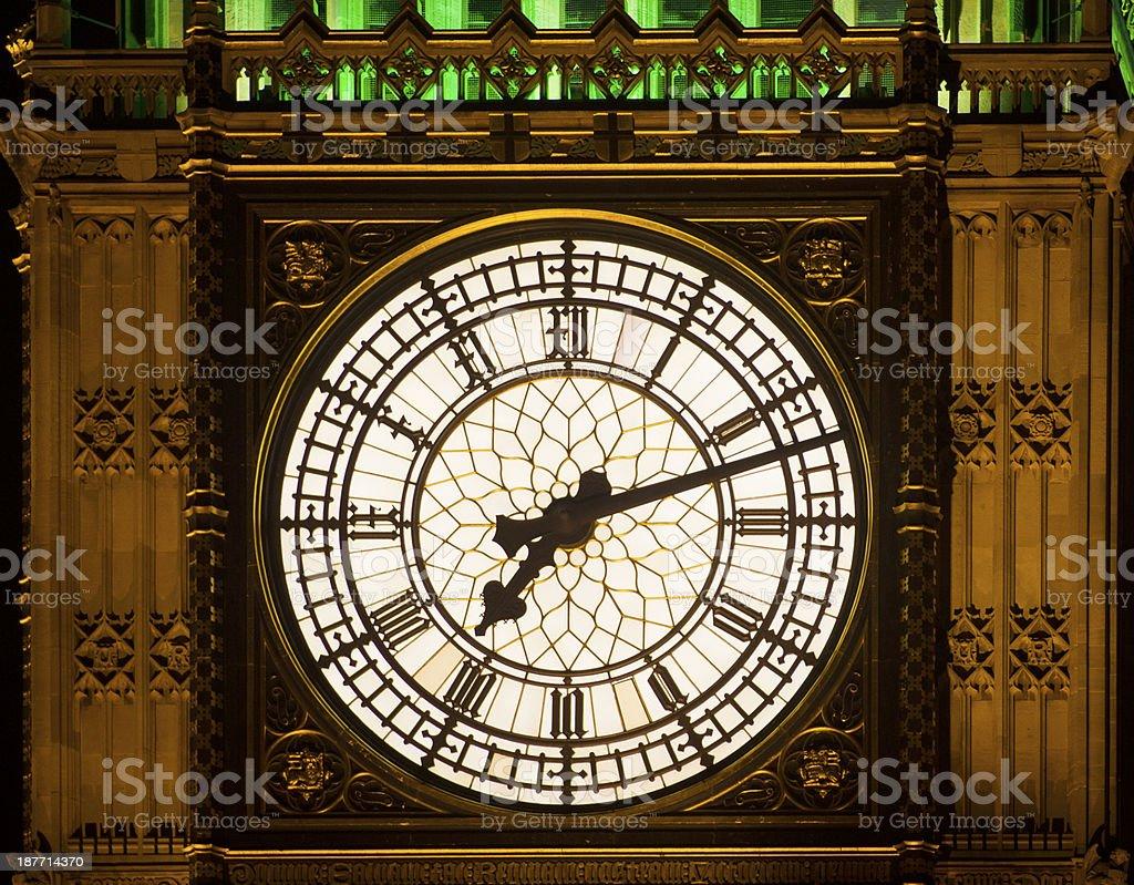 Big Ben Clock Detail stock photo
