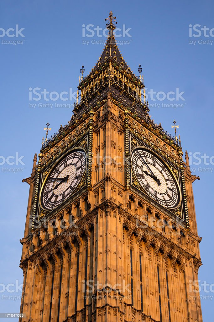 Big Ben clock face royalty-free stock photo