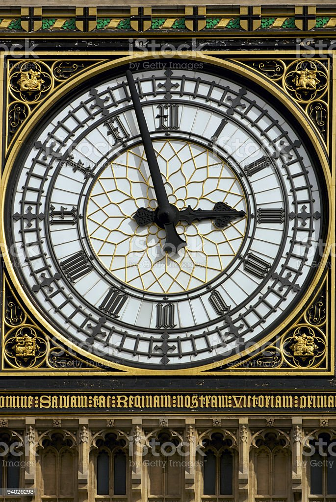 Big Ben clock face royalty-free stock photo
