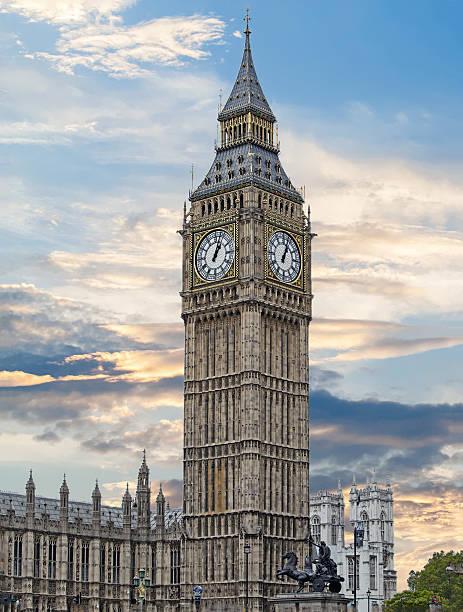 Big Ben Clock Tower against a vivid sky – Foto