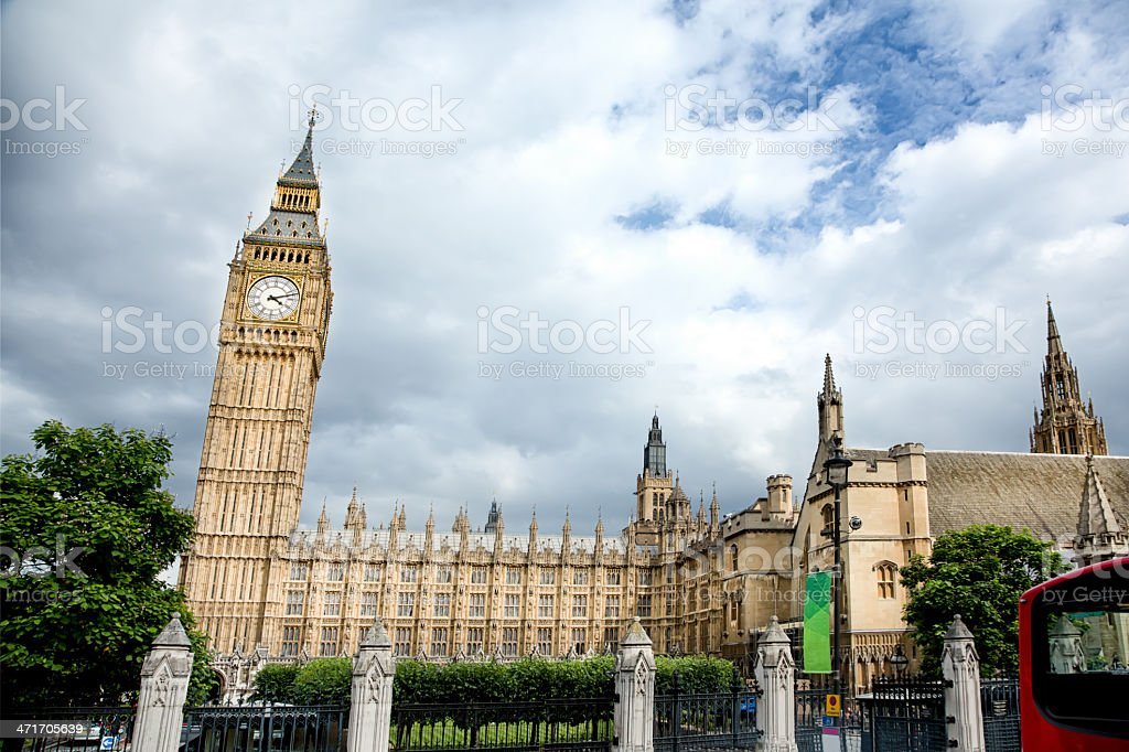 Big Ben Clock Tower, London England, UK royalty-free stock photo