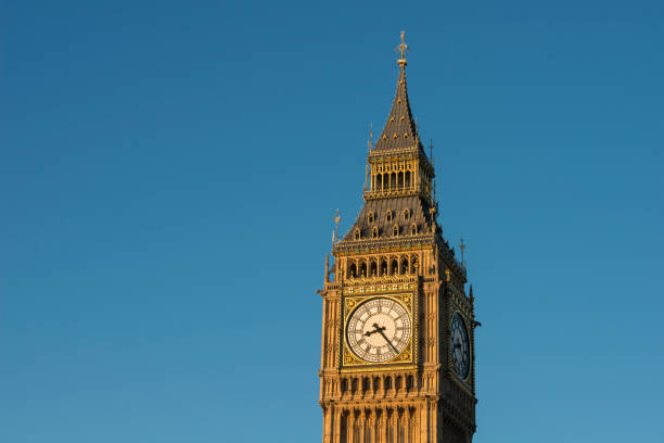Big Ben clock tower of The Palace of Westminster stock photo