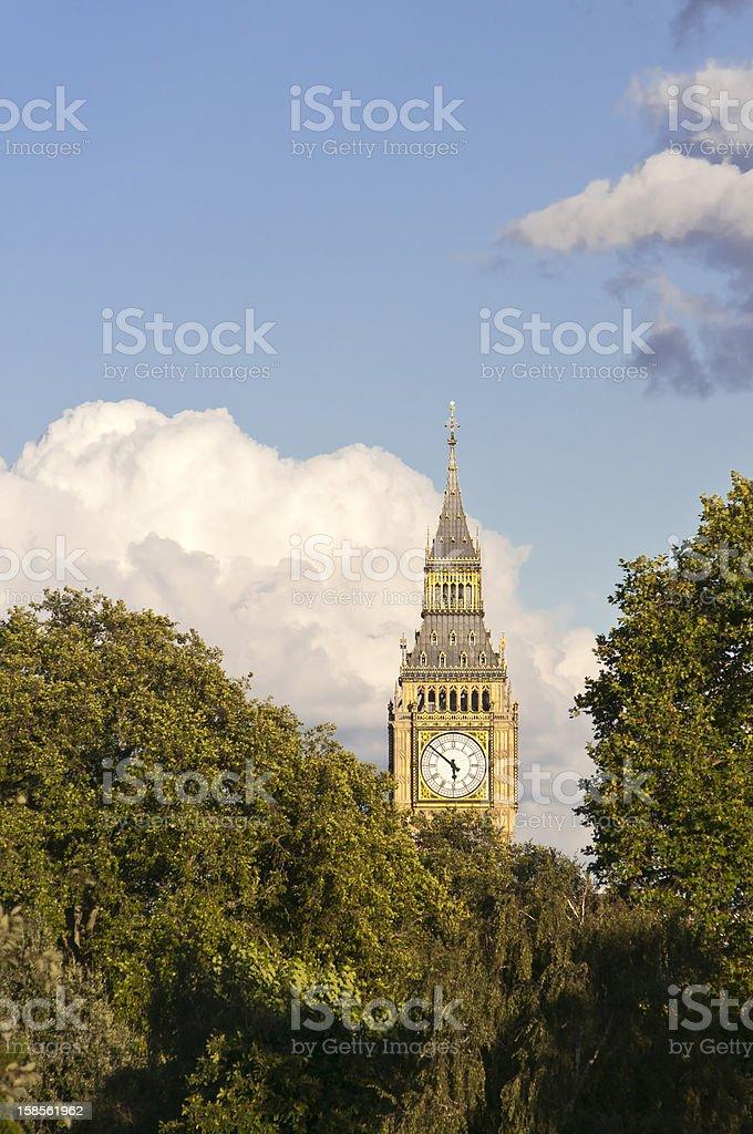 런던 시계탑) royalty-free 스톡 사진