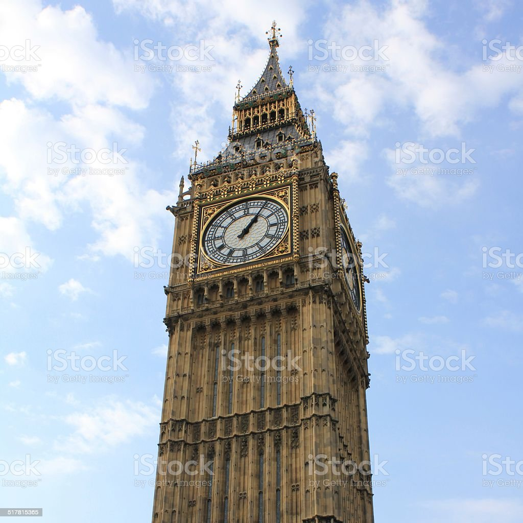 Big Ben Clock tower stock photo