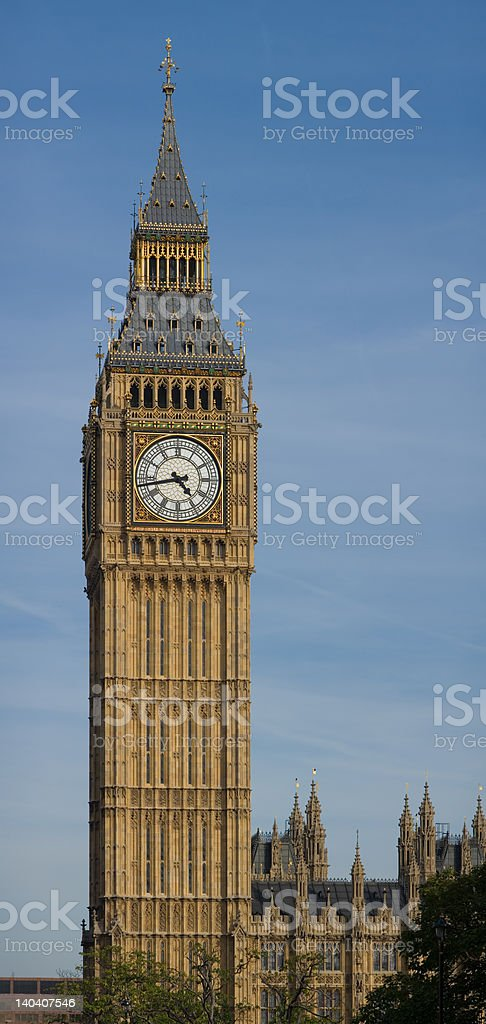 Big Ben - Clocktower at the Houses of Parliament royalty-free stock photo