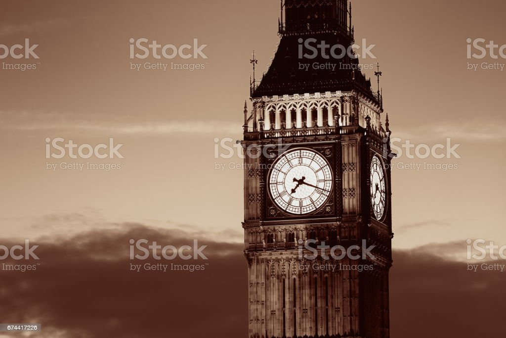 Big Ben closeup stock photo